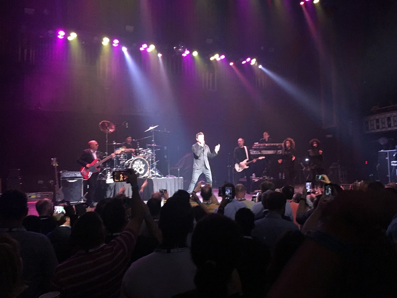 Rick Astley on stage at the Tabernacle during IFS World Conference 2018