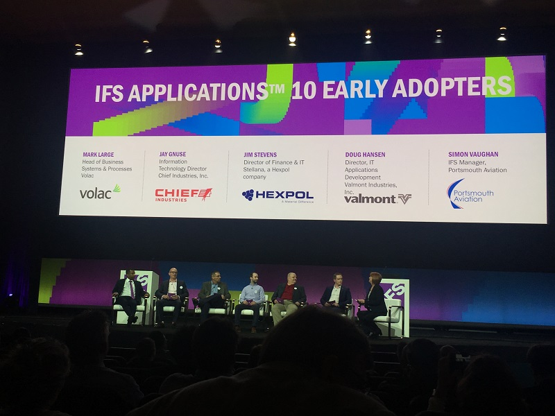 IFS Applications 10 early adopters Volac, Chief Industries, Stellana, Valmont, Portsmouth Aviation