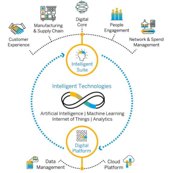 diagram showing SAP's Intelligent Enterprise